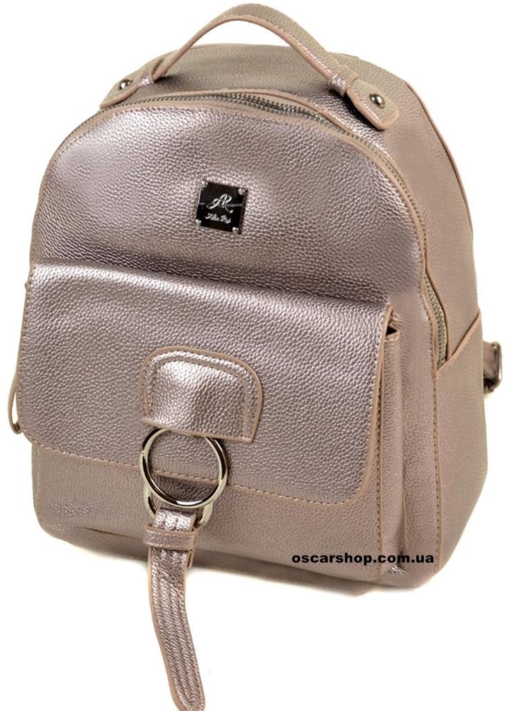 Женский рюкзак серебро. Размер 28*25*15. Детский портфель. Женская сумка Alex Rai. СЛ7