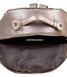 Женский рюкзак серебро. Размер 28*25*15. Детский портфель. Женская сумка Alex Rai. СЛ7, фото 4
