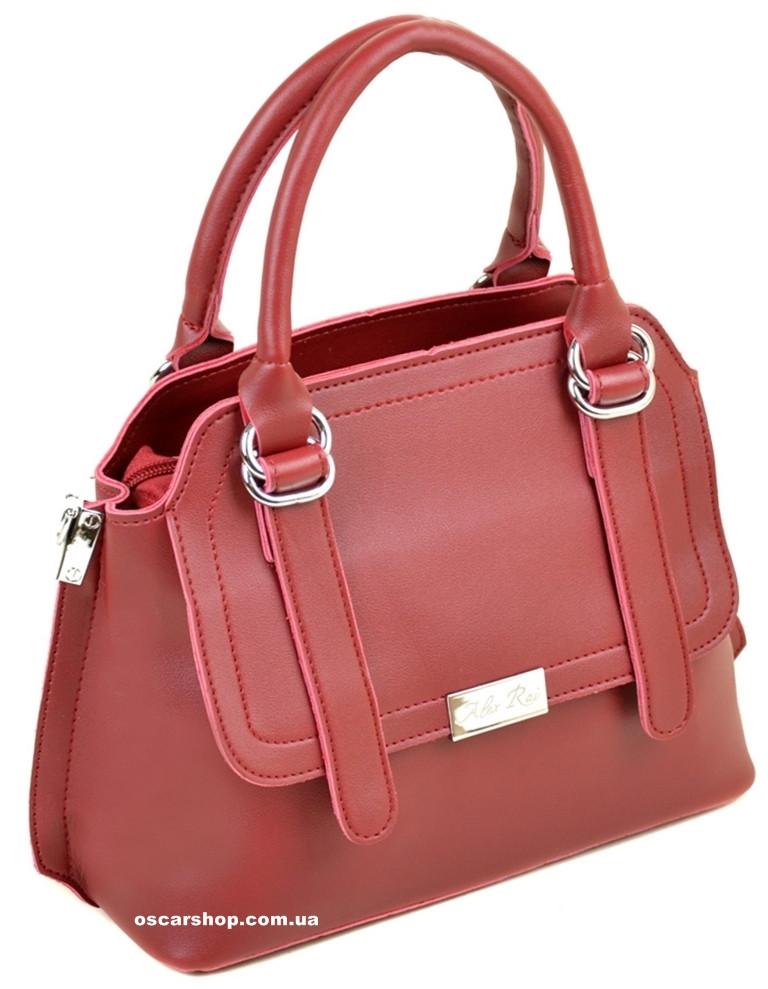 Красная стильная женская сумка. Небольшая сумочка Алекс Рей. Женский портфель. СЛ8