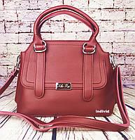 Красная женская сумка Алекс Рей. Женский портфель Alex Rai. Отличное качество. СЛ9