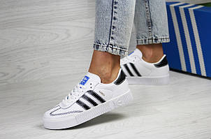 Женские кроссовки (в стиле) Adidas Samba,белые, фото 2