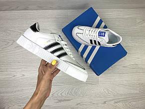 Женские кроссовки (в стиле) Adidas Samba,белые, фото 3