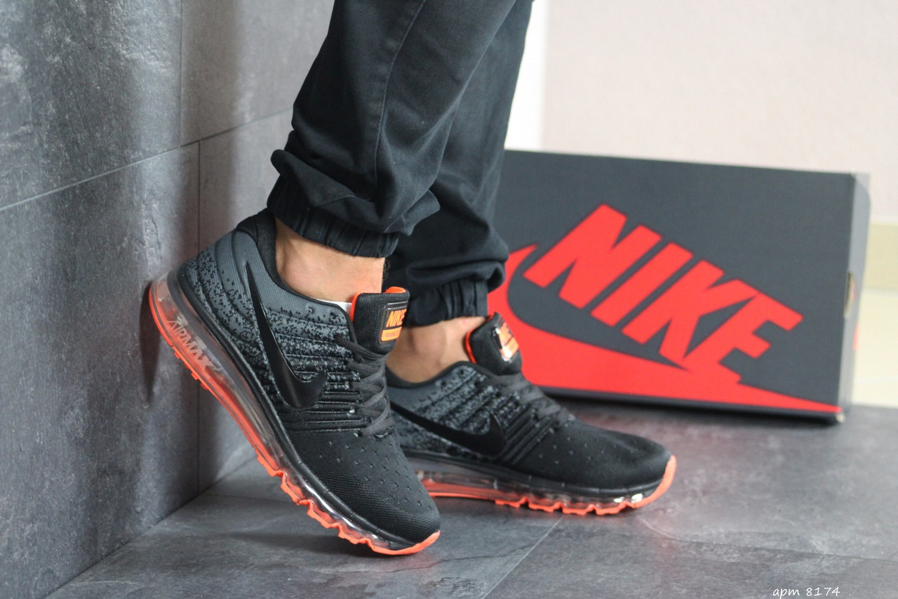 Мужские кроссовки (в стиле) Nike Air Max 2017,серые с черным