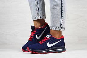 Женские кроссовки (в стиле) Nike air max 2017,синие с красным, фото 2