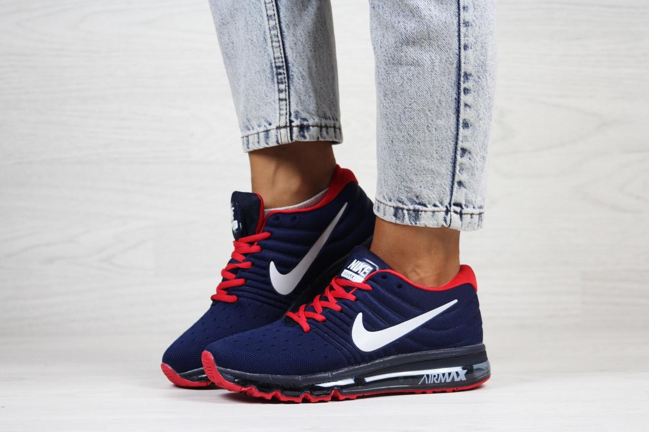 Женские кроссовки (в стиле) Nike air max 2017,синие с красным