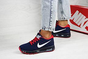 Женские кроссовки (в стиле) Nike air max 2017,синие с красным, фото 3