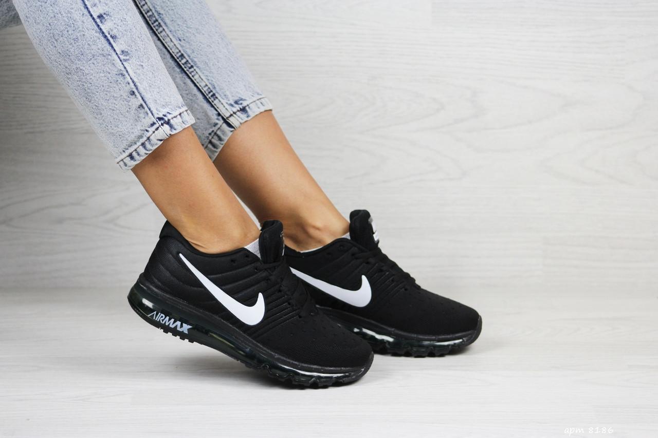 Женские кроссовки (в стиле) Nike air max 2017,черно-белые