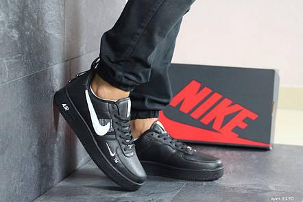 Кроссовки (в стиле) мужские Nike Air Force AF 1,черные с белым 44р, фото 2