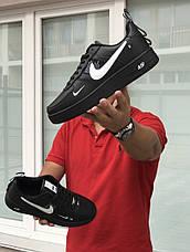 Кроссовки (в стиле) мужские Nike Air Force AF 1,черные с белым 44р, фото 3
