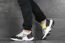 Мужские текстильные кроссовки (в стиле) Nike Air Huarache,серые с салатовым, фото 2