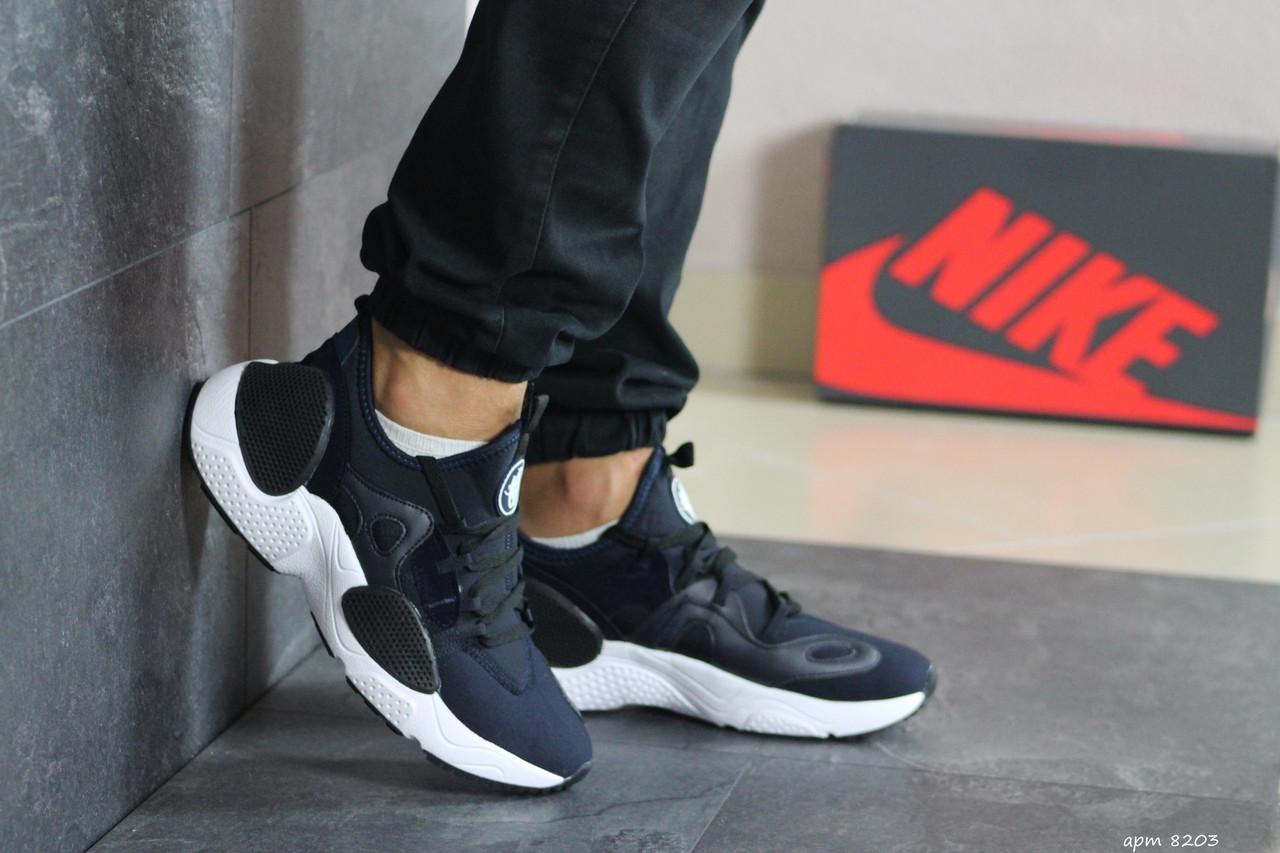 Мужские текстильные кроссовки (в стиле) Nike Air Huarache,темно синие
