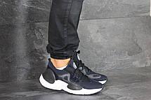 Мужские текстильные кроссовки (в стиле) Nike Air Huarache,темно синие, фото 2