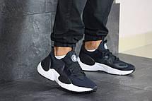 Мужские текстильные кроссовки (в стиле) Nike Air Huarache,темно синие, фото 3