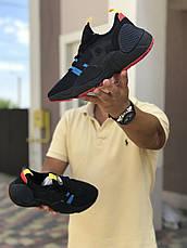 Мужские текстильные кроссовки (в стиле) Nike Air Huarache,черные с синим, фото 2