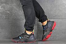 Мужские текстильные кроссовки (в стиле) Nike Air Huarache,черные с синим, фото 3