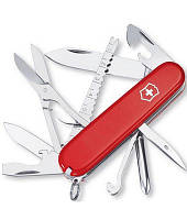 Нож Victorinox Викторинокс Fisherman 91 мм 17 предметов красный