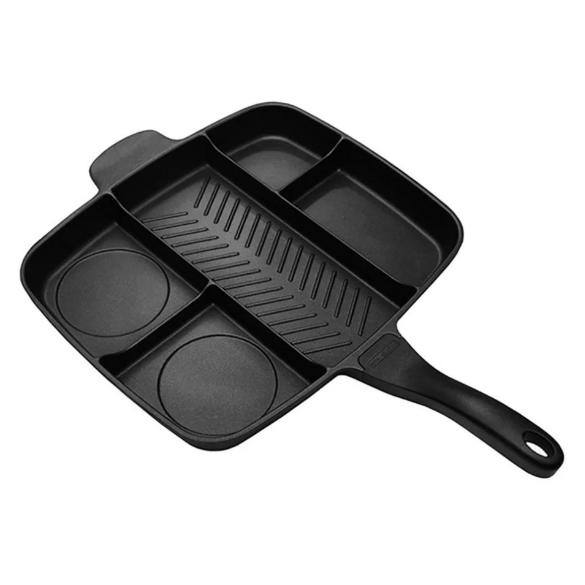 Универсальная сковорода Magic Pan 5 в 1 | Сковородка гриль на 5 отделений