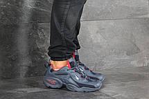 Мужские кроссовки (в стиле) Reebok кожаные,темно синие с красным, фото 2