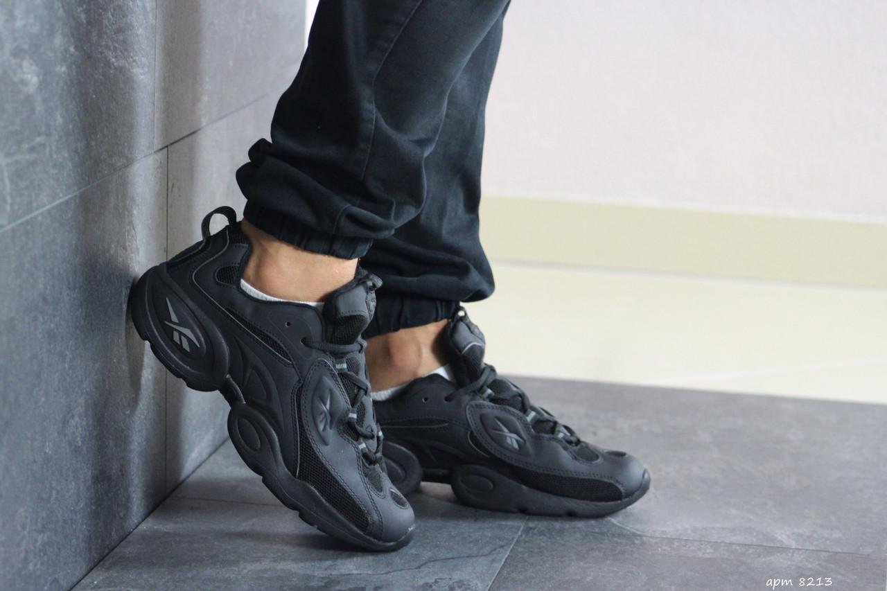 Мужские кроссовки (в стиле) Reebok нубук,черные