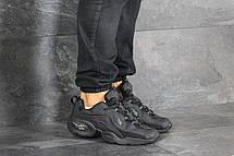 Мужские кроссовки (в стиле) Reebok нубук,черные, фото 2