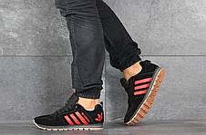 Кроссовки (в стиле) мужские Adidas,черные с красным, фото 2