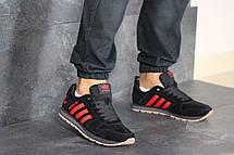 Кроссовки (в стиле) мужские Adidas,черные с красным, фото 3