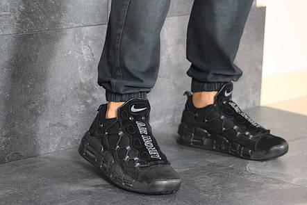 Кроссовки (в стиле) мужские Nike Air More Money,нубук,черные, фото 2