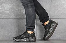 Кроссовки (в стиле) мужские Nike Air More Money,нубук,черные, фото 3