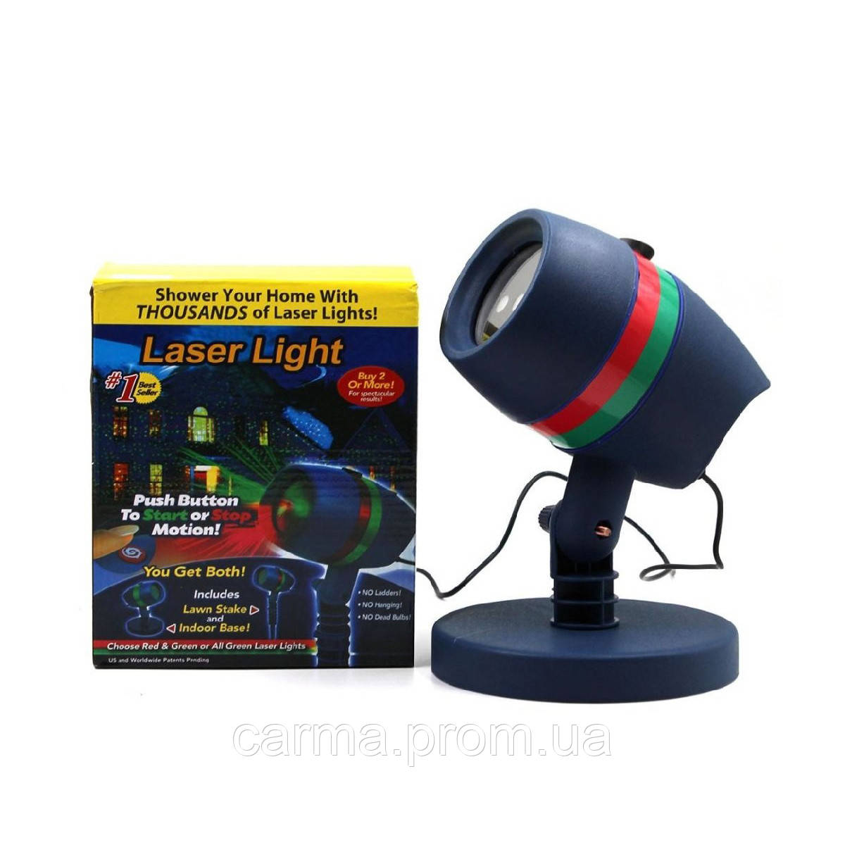 Лазерный звездный проектор Star Shower Motion Laser Light 8003 Синий