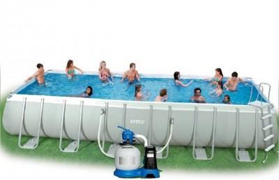 Каркасный бассейн Intex Ultra Frame Pool 54485 975 см х 488 см х 132 см с аксессуарами