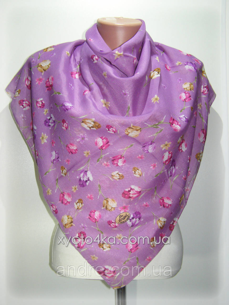 Платки на натуральной основе Эдельвейс, фиолетовый