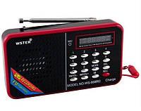 Портативная колонка с приемником WSTER WS-958 Черная/Красная, фото 1