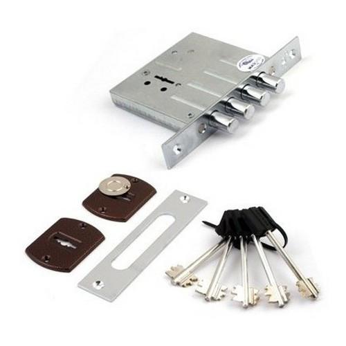 Замок врезной ПроСам ЗВ8-8М/15-СП-НП-002Ш (декоративная накладка) 5 ключей
