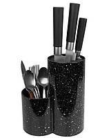 Подставка для ножей UNIQUE UN-1853 Черная