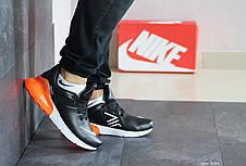Мужские кроссовки (в стиле) Nike Air Max 270,черные с оранжевым, фото 3