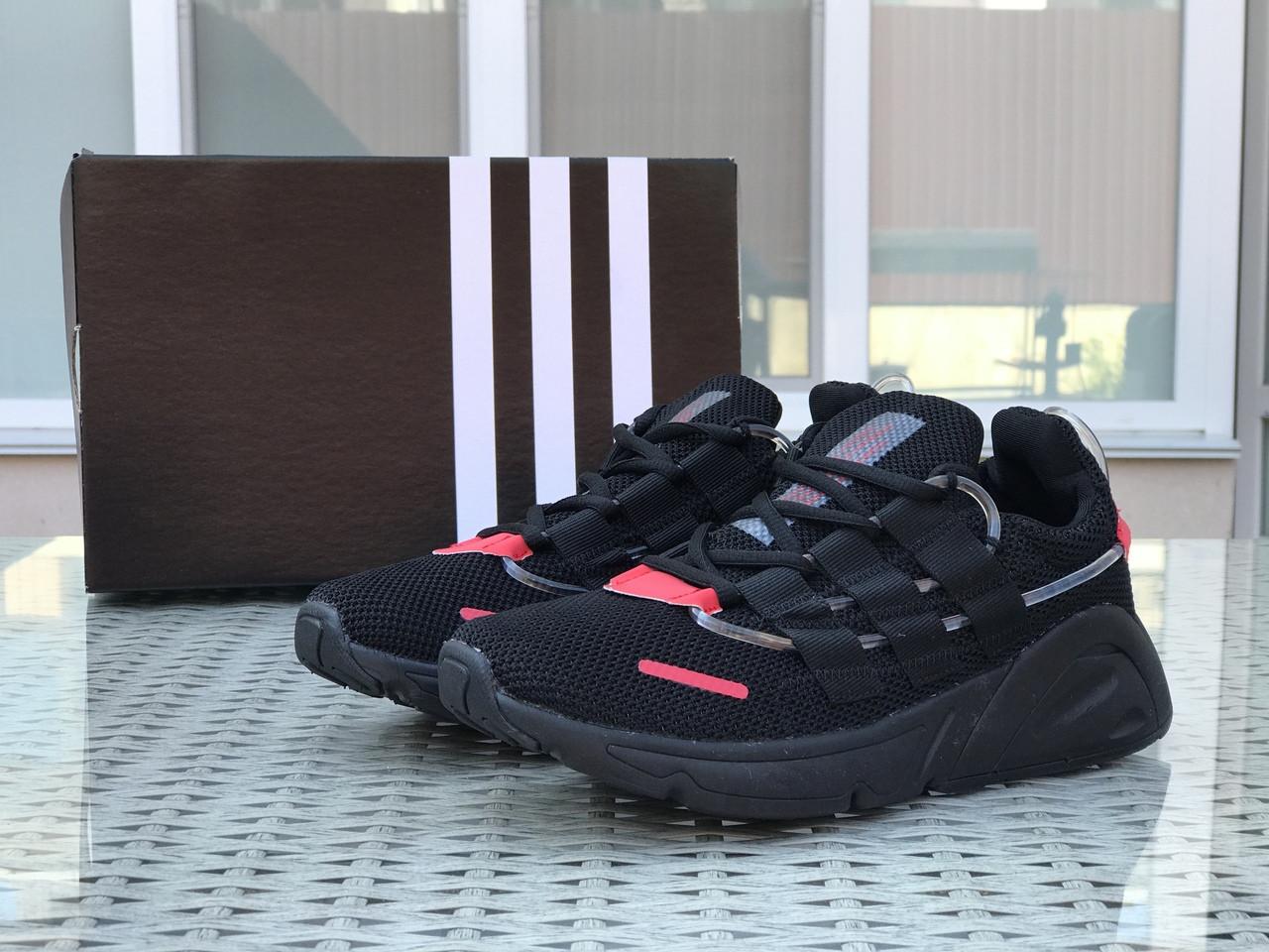 Кроссовки (в стиле) мужские Adidas LXCON плотная сетка,черные с красным