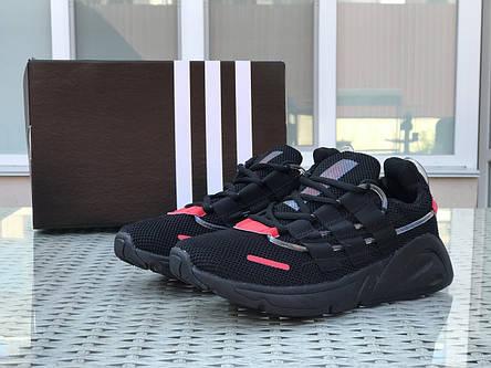 Кроссовки (в стиле) мужские Adidas LXCON плотная сетка,черные с красным, фото 2