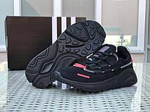 Кроссовки (в стиле) мужские Adidas LXCON плотная сетка,черные с красным, фото 3