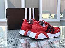 Кроссовки (в стиле) мужские Adidas LXCON плотная сетка,красные, фото 3