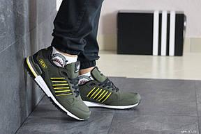 Мужские кроссовки (в стиле) Adidas ZX 750,темно зеленые, фото 2