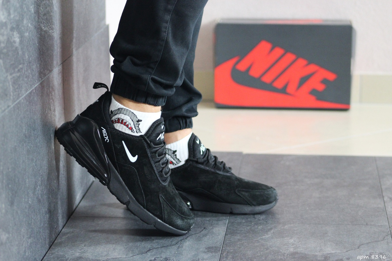 Мужские замшевые кроссовки (в стиле) Nike Air Max 720,черные 44р