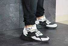 Мужские кроссовки (в стиле) Adidas Nite Jogger Boost,бежевые с черным, фото 2