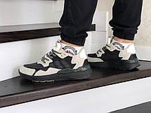 Мужские кроссовки (в стиле) Adidas Nite Jogger Boost,бежевые с черным, фото 3