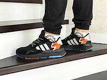 Мужские кроссовки (в стиле) Adidas Nite Jogger Boost,черные с серым, фото 2