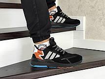 Мужские кроссовки (в стиле) Adidas Nite Jogger Boost,черные с серым, фото 3