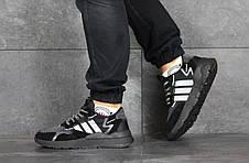 Мужские кроссовки (в стиле) Adidas Nite Jogger Boost,черные, фото 3