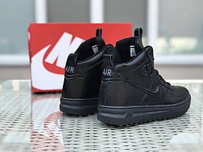 Высокие кроссовки (в стиле) Nike Lunar Force 1,черные, фото 2