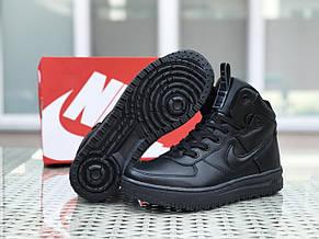 Высокие кроссовки (в стиле) Nike Lunar Force 1,черные, фото 3