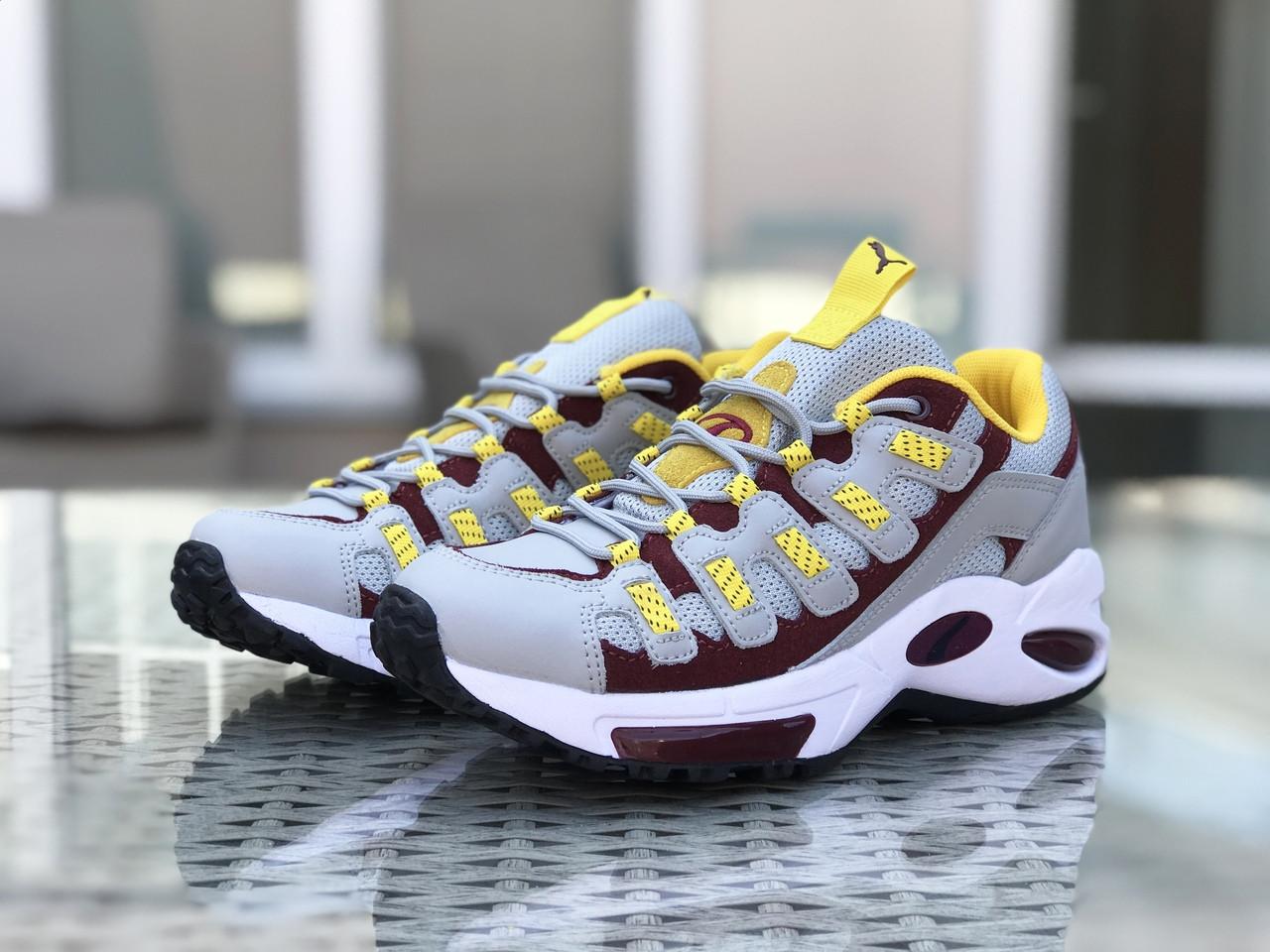 Кроссовки (в стиле) мужские Puma CELL Endura,серые с желтым