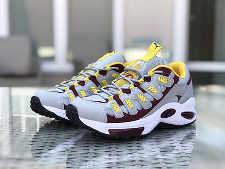 Кроссовки (в стиле) мужские Puma CELL Endura,серые с желтым, фото 2